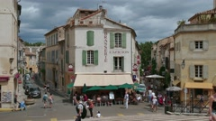 City View Of Arles In France With Buildings And Tourists Stock Footage