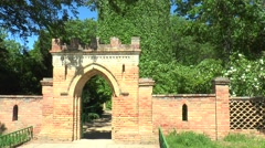 Entrance to the park. Stock Footage