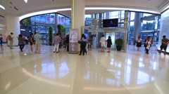 Shoppers visit Siam Paragon mall in Bangkok Stock Footage