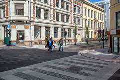 OSLO, NORWAY-JULY 5: City streets July 5, 2016 in Oslo, Norway. City streets  Stock Photos
