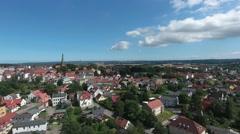 Aerial view Bergen auf Ruegen Germany town Mecklenburg Stock Footage