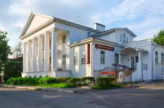 Restaurant Russian farmstead (Pereslavtseva House), Uglich, Russia Stock Photos