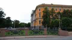 SAINT-PETERSBURG, RUSSIA - JULY, 2016: The Mikhailovsky castle in St. Petersburg Stock Footage