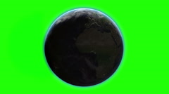 Planet Earth. night and day view. realistic animation with atmosphere. Green Stock Footage