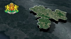 Haskovo with Coat Of Arms Animation Map - stock footage