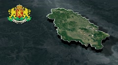 Pernik with Coat Of Arms Animation Map - stock footage