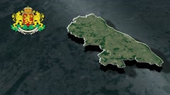 Ruse with Coat Of Arms Animation Map - stock footage