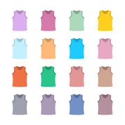Set of colored tank top, vector illustration. Stock Illustration
