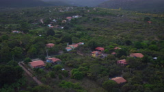 Aerial Chapada Diamantina, Vale do Capão, Bahia, Brasil Stock Footage