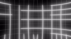 curved active matrix flowing lines and articles LOOP 4K Colorless - stock footage