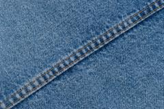 Denim jeans texture or denim jeans background with seam of fashion jeans - stock photo