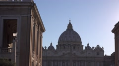 Italy pride basilica Saint Peter pope place icon building at sunset in summer 4K Stock Footage