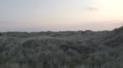 Flying Over Ynyslas Dunes Stock Footage
