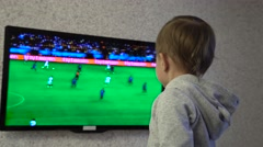 Child-fan of the German national football team Stock Footage