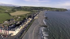 Borth Highstreet From Above Stock Footage