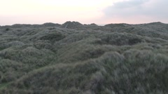 Flying Over Ynyslas Sand Dunes Stock Footage