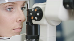 Comprehensive Eye Exam Stock Footage