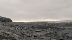 Rock Pools Of Borth Stock Footage