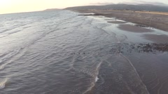 Flying Along The Beach Stock Footage