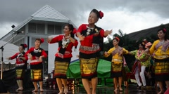 Thai women dance dancing thai style for show people in traditional culture thai Stock Footage