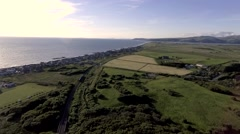 Ariel Of Borth On A Sunny Afternoon Stock Footage