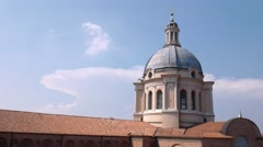 Dome of Sant'Andrea church in Mantua Stock Footage