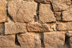Texture Ancient masonry castle Stock Photos