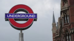 London Underground Side Outside Kings Cross Station Stock Footage