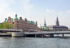 Waterside scenery in Copenhagen Stock Photos