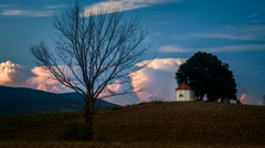 Small chapel sunset time-lapse Stock Footage