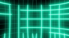 Curved active matrix flowing lines and articles LOOP 4K Green Stock Footage