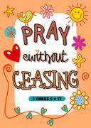 Pray without Ceasing Stock Illustration