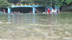 River Republic Dominican Stock Footage