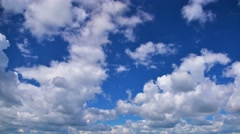Cloudscape, cumulus clouds rolling over sky time-lapse. Stock Footage