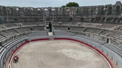 Roman Amphitheatre French Monument Ancient Arena In Arles France Stock Footage