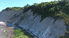 Coastal Landscape at Kap Arkona on Ruegen Island baltic Sea Stock Footage
