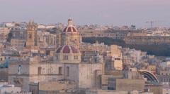 Maltese Church in Valletta Stock Footage