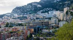 Side of Monaco city rising to the mountains Kuvituskuvat