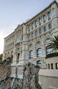 Back facade of Oceanographic museum in Monaco Stock Photos