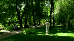 Alley, Botanical Garden of MSU, Moscow Stock Footage