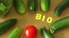 Healthy organic vegetables - stock footage