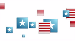Usa colors abstract geometric video animation Stock Footage