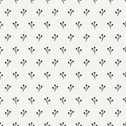 Hand drawn autumn seamless pattern made of berries. Wrapping paper. Abstract - stock illustration