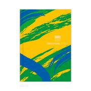 Vector brochure template with colored lines and waves. vector eps10. - stock illustration