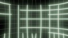 Curved active matrix flowing lines and articles LOOP 4K Pale green Stock Footage