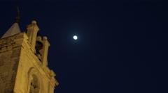 Saint John's Cathedral in Valletta Malta at night Stock Footage