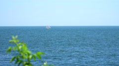 Boat sailing sailing in the open sea Stock Footage