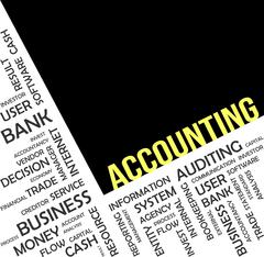 Word cloud - accounting Stock Illustration