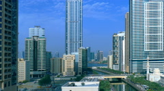 Aerial Dubai Jumeira Marina video 4k. Skyscrapers building United Arab Emirates Stock Footage