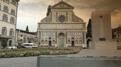 Church of Santa Maria Novella in Florence, ULTRA HD 4k, real time Stock Footage